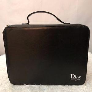 Dior Backstage Travel Makeup/Brush Case.  Black.